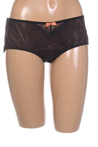 curvy et kate shortys et boxers femme de couleur noir