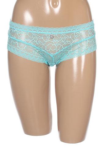 implicite shortys et boxers femme de couleur bleu