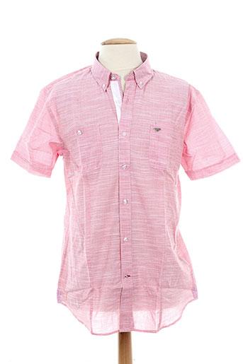 delahaye chemises homme de couleur rose