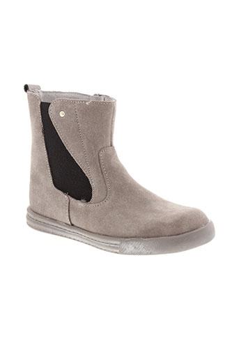 minibel boots fille de couleur gris
