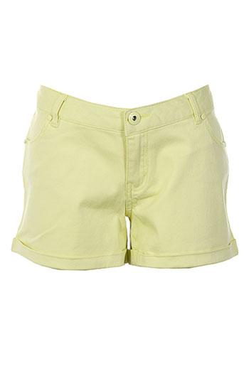 little marcel shorts / bermudas femme de couleur jaune