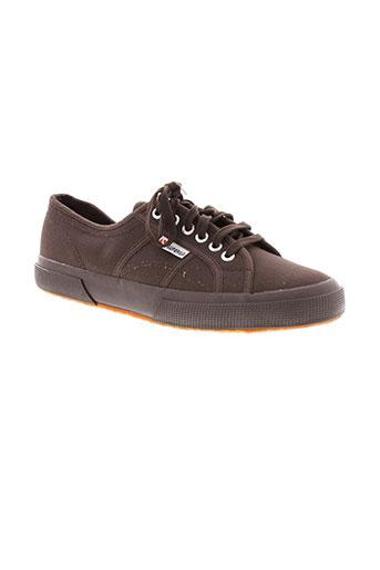 superga chaussures homme de couleur marron