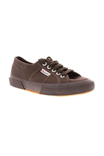 superga chaussures garçon de couleur marron