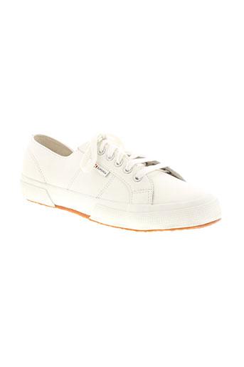 superga chaussures homme de couleur blanc