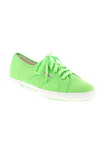 superga chaussures unisexe de couleur vert