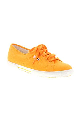 superga chaussures unisexe de couleur orange