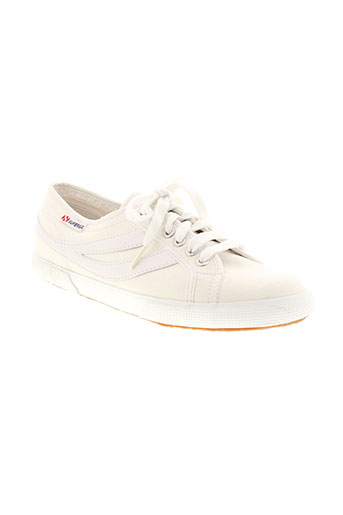 superga chaussures unisexe de couleur blanc