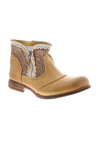 bunker boots femme de couleur beige