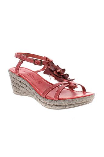 marco et tozzi sandales et nu et pieds femme de couleur rouge