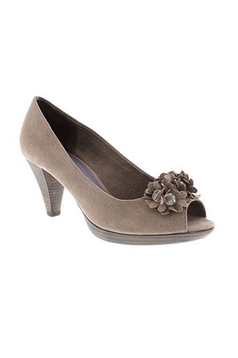 marco et tozzi escarpins femme de couleur gris