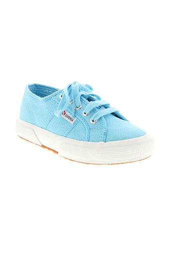 superga chaussures enfant de couleur bleu