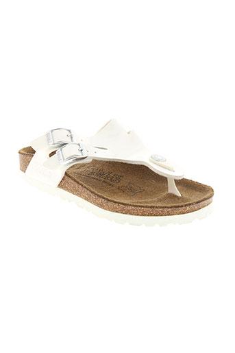 birki's chaussures fille de couleur blanc