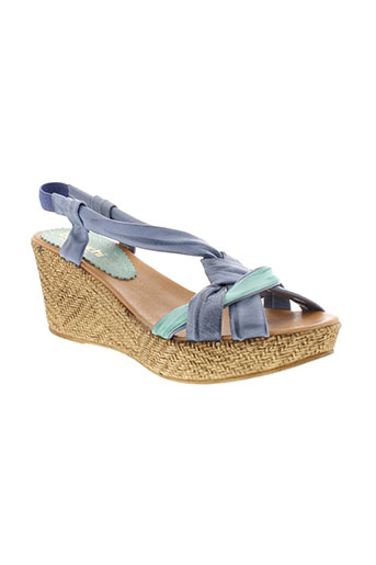 bertuchi chaussures femme de couleur bleu