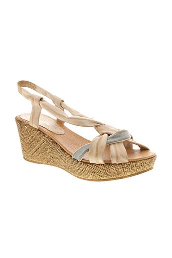 bertuchi sandales et nu et pieds femme de couleur beige