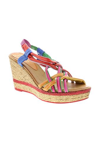 marila sandales et nu et pieds femme de couleur rouge