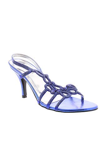 unze london chaussures femme de couleur bleu