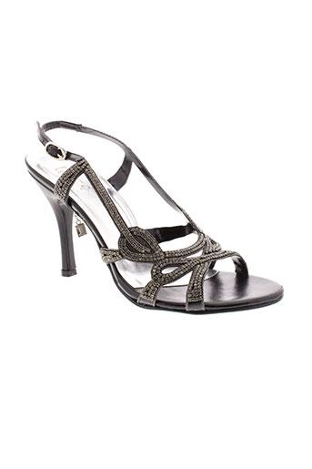 unze london chaussures femme de couleur noir