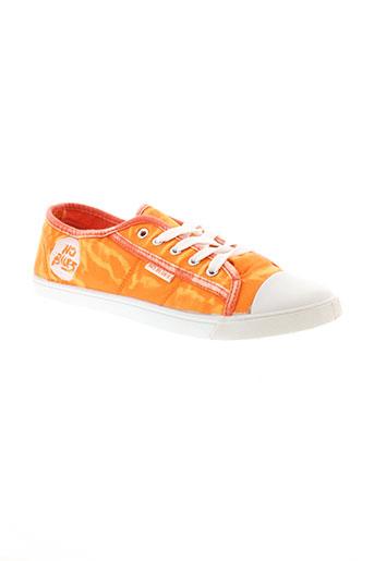 no blues chaussures femme de couleur orange