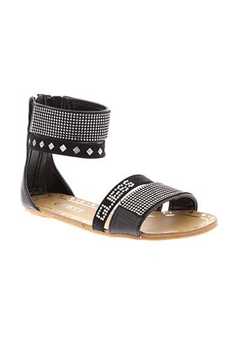 guess sandales et nu et pieds fille de couleur noir
