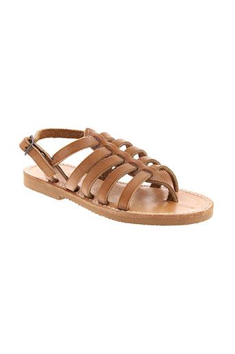 griffe noire chaussures fille de couleur marron