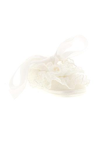 baby chick chaussures fille de couleur blanc
