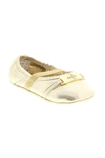 guess chaussures fille de couleur jaune