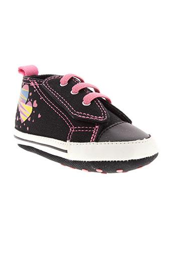 converse chaussures fille de couleur noir