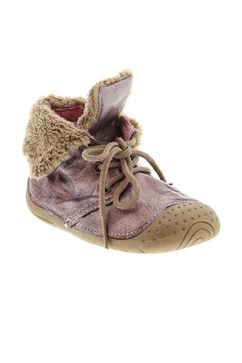 babybotte chaussons fille de couleur violet