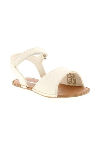 pom d'api chaussures fille de couleur blanc