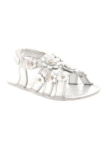 pom d'api chaussures fille de couleur gris