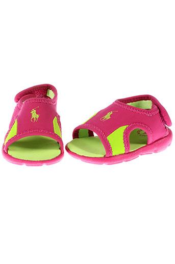 ralph et lauren sandales et nu et pieds fille de couleur rose