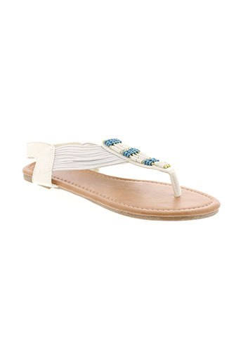 cassis sandales et nu et pieds femme de couleur blanc