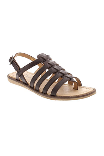 romagnoli chaussures fille de couleur marron
