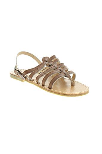 cap et company sandales et nu et pieds femme de couleur marron