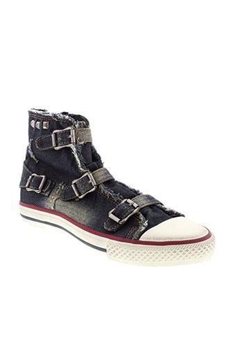 ash chaussures fille de couleur bleu