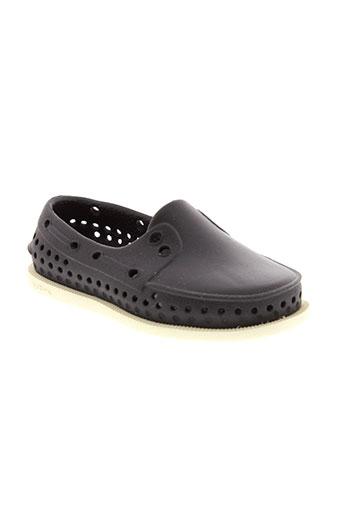 native chaussures enfant de couleur noir