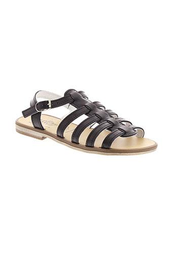 bellamy sandales et nu et pieds fille de couleur noir