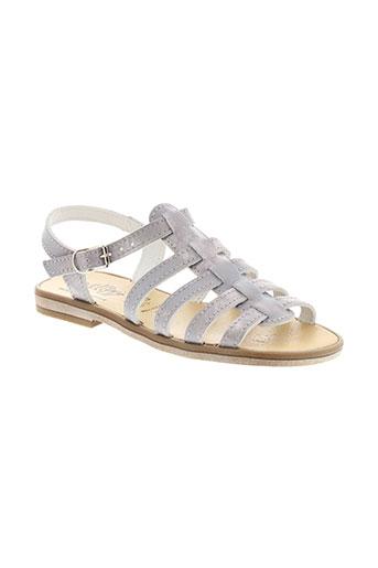 bellamy sandales et nu et pieds fille de couleur gris