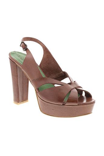 monica scott chaussures femme de couleur marron