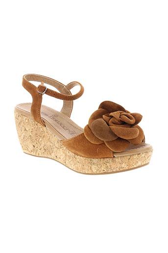 ilario et ferucci sandales et nu et pieds femme de couleur marron