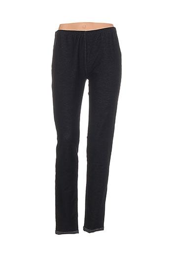 fuego woman pantalons femme de couleur noir