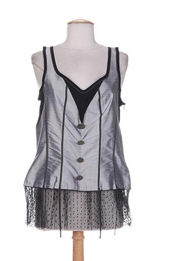 saona chemises femme de couleur gris