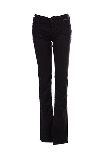 teddy et smith pantalons et decontractes femme de couleur noir