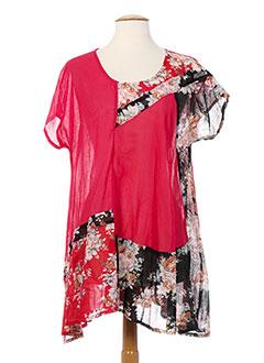 Tunique manches courtes rouge C.C.CREA pour femme