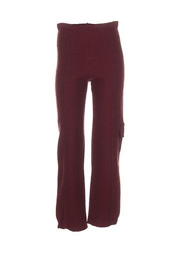 lauren vidal pantalons femme de couleur rouge