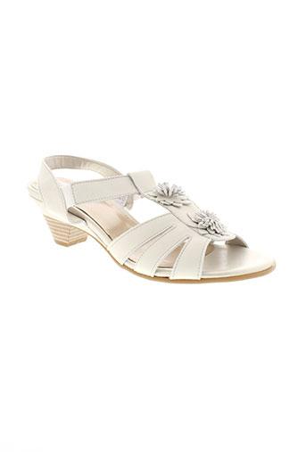 arima sandales et nu et pieds femme de couleur blanc