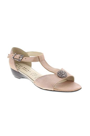 geo et reino sandales et nu et pieds femme de couleur beige