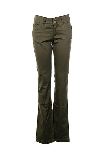 mango pantalons et decontractes femme de couleur vert