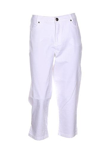 ciso pantacourts femme de couleur blanc