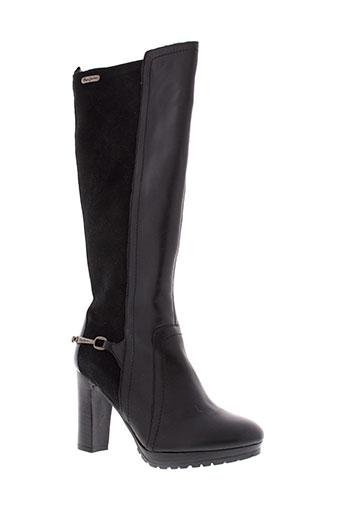 pepe et jeans bottes femme de couleur noir